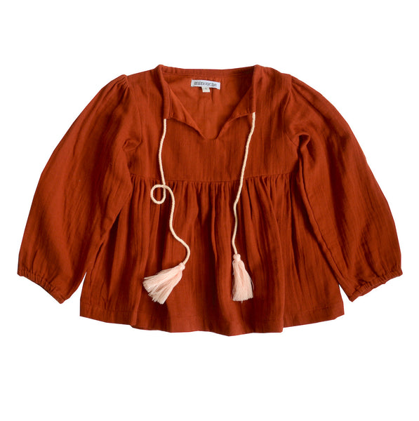Valerie blouse - terracotta
