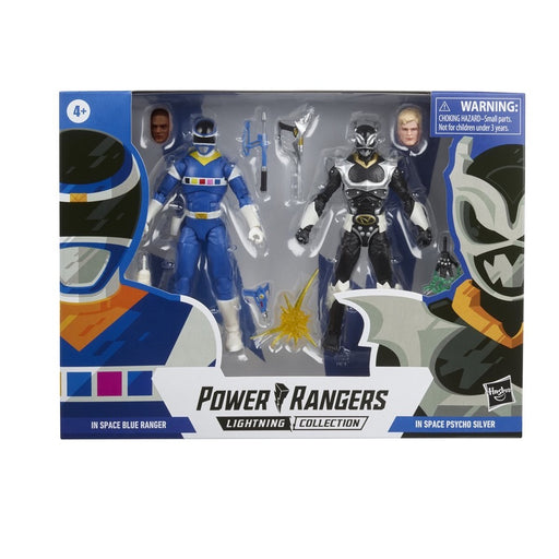 Power Rangers Lightning Collection In Space Blue Ranger vs. Silver Psycho Ranger 6-Inch Action Figures Battle Pack