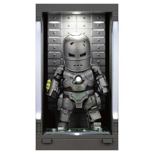 Iron Man 3 MEA-015 Iron Man MK I Action Figure with Hall of Armor Display - Previews Exclusive