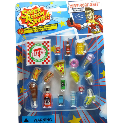 Super Action Stuff!! Super Foodie Series Action Figure Accessories