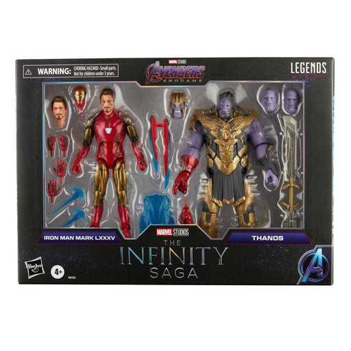 Marvel Legends Infinity Saga Avengers Endgame Iron Man 85 vs. Thanos 6-Inch Action Figures