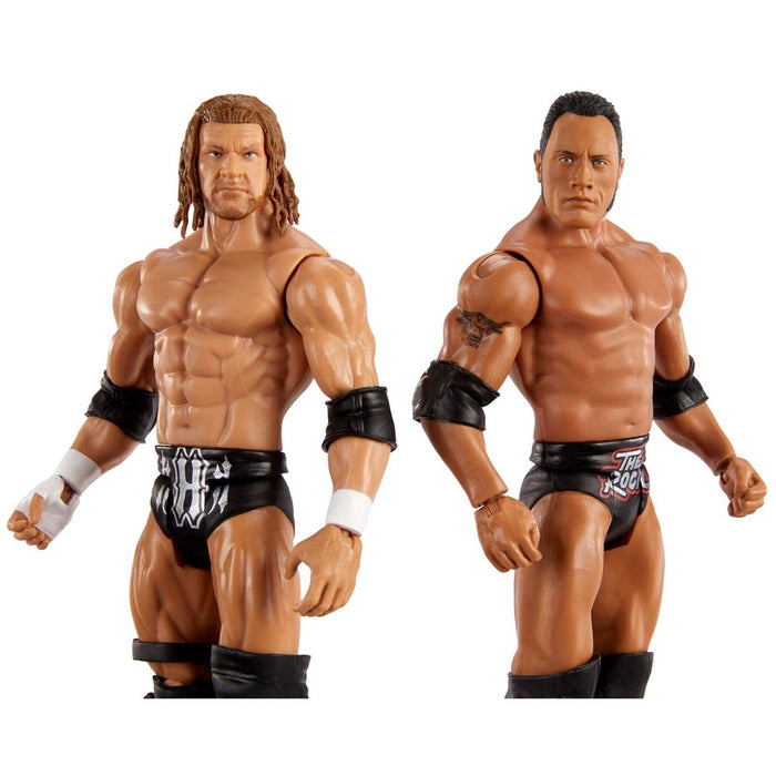 WWE Championship Showdown Series 2 The Rock and Triple H Action Figure 2-Pack