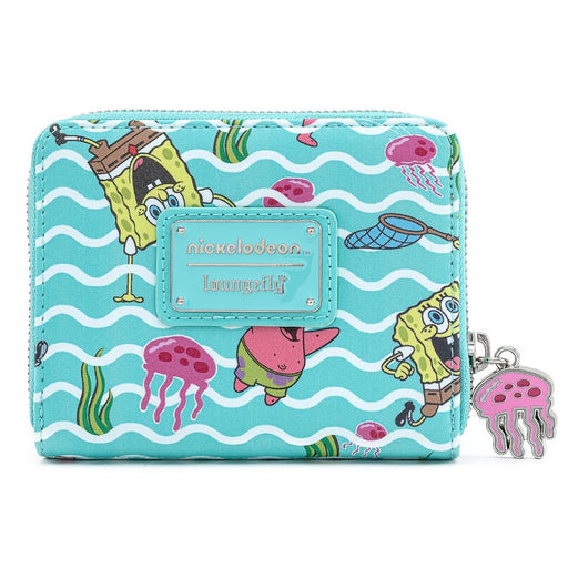 Loungefly X Nickelodeon Spongebob Jelly Fishing AOP Zip Around Wallet