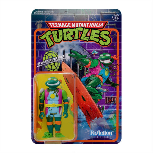 Teenage Mutant Ninja Turtles ReAction Sewer Surfer Michelangelo Figure