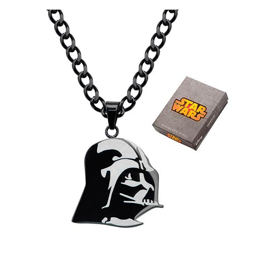Star Wars Darth Vader Etched Pendant Necklace