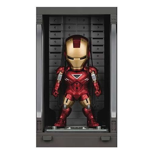 Iron Man 3 MEA-015 Iron Man MK VI Action Figure with Hall of Armor Display - Previews Exclusive