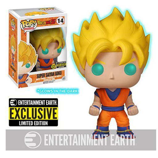 Funko POP! Dragon Ball Z GITD Super Saiyan Goku Pop! Vinyl Figure # 14 - EE Exclusive