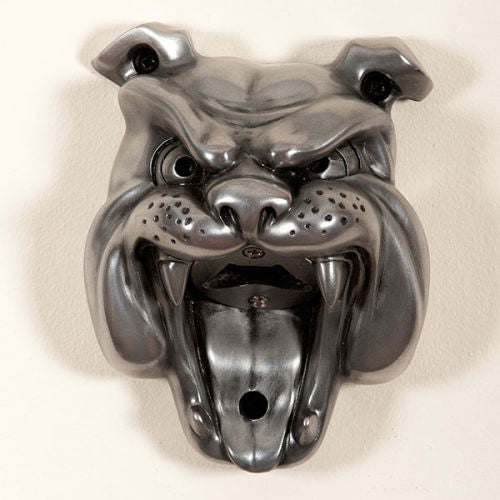 Silver Bulldog Mounted Bottle Opener
