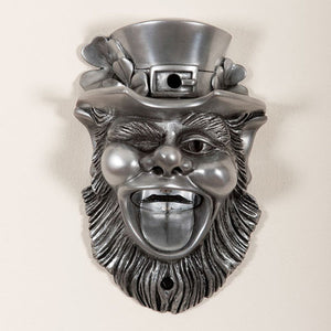 Silver Leprechaun Wall Mounted Bottle Opener