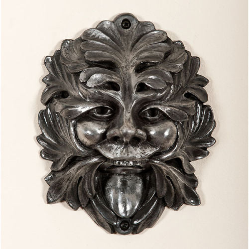 Silver Grinning Greenman Wall Mounted Bottle Opener