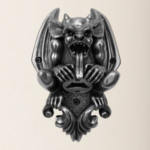 Gargoyle Silver Finish Mounted Bottle Opener