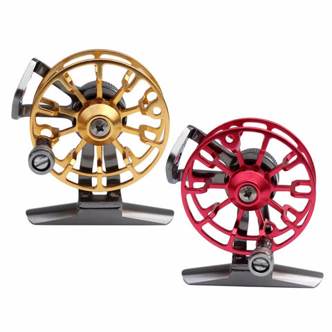 Fly Fishing Reel Aluminum Metal Drag Water Fly Fishing Tackle Reel HE50