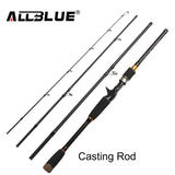 ALLBLUE 2017 New Fishing Rod Spinning Casting Rod 99% Carbon Fiber Telescopic 2.1M 2.4M 2.7M Fishing Travel Rod Tackle peche