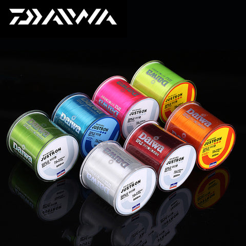 500m Super Strong Daiwa Justron Nylon Fishing Line 2LB - 40LB 7 Colors Japan Monofilament Main Line For Carp & Match Fishing