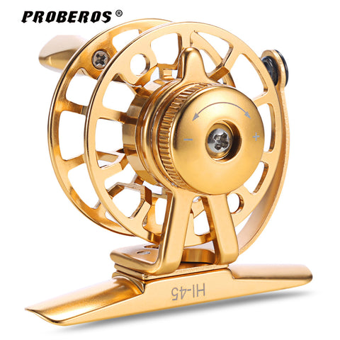 PROBEROS Fishing Reel Ultra-Light 2 + 1BB Full Metal Stainless Steel CNC Machined Ice Fly Fishing Reel