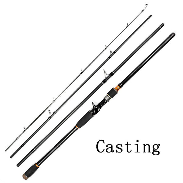 Fishing Tackle Super-hard Tune High-carbon Spinning Long Shot Multi-Joint Lure Rod Sea Fishing Rod Fish Pole 2.4m to 3.0m