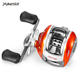 YUMOSHI Left / Right Hand Baitcasting Reel 12+1BB 6.3:1 Bait Casting Fishing Reel Magnetic Brake Water Drop Wheel Coil