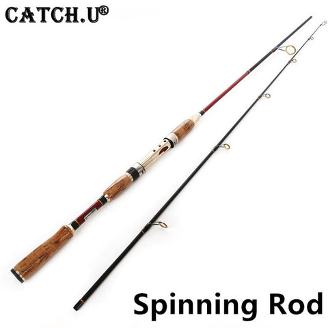 2.1M 10-25g Test Adjustable Length Carbon Fiber Lure Carp Casting Spinning Fishing Rod