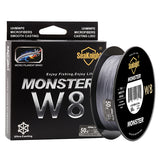SeaKnight MONSTER W8 Braid Line 500M 8 Strands Braided Fishing Line Wide Angle Technology Multifilament PE Line Saltwater