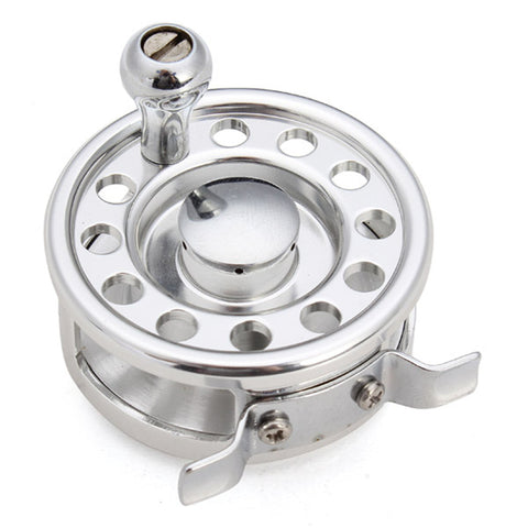 Bobing Aluminum Alloy Ice Fishing Reel Dia 4.7cm 2.1:1 Fishing Wheel Fly Reel for Pen Rod Portable Raft Fishing Accessories
