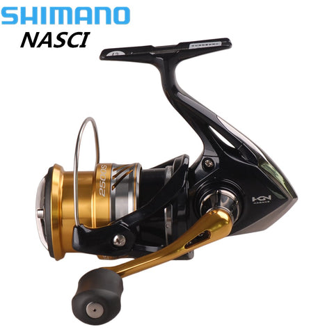 Shimano NEW NASCI Spinning Fishing Reel Hagane Gear Carretilhas De Pescar Molinete Peche X-Ship Saltwater Carp Fishing Coil