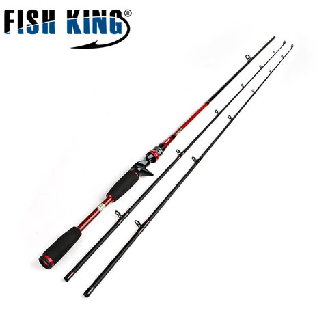 FISH KING Carbon 2.1M Two Segments Section C.W. M ML Lure Weight 7-25g Line Weight 5-25LB Bait Casting Hard Spinning Lure Rod