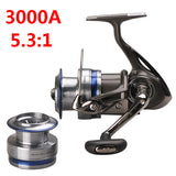 DAIWA MEGAFORCE Spinning Fishing Reel with Spare Spool 2000A 2500A 3000A Spinning Wheel Carretilha Pesca Molinete Peche