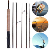 2.3M 7Section M Power Carbon Fiber Spinning/Casting Travel Lure Fishing Rod Hard Telescopic Casting Rod Fast Action Fishing Lure
