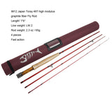 Aventik IM12 Japan Toray 46T Fly Rods 7'6'' 8'0'' 8'6'' 4sec Fast Action Super Compact Freshwater Trout Fly Fishing Rod