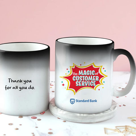 Personalised Customer Service Week Magic Mug