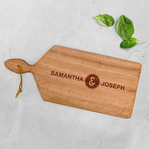 personalised chopping board for the new couple from Purpink Gifts