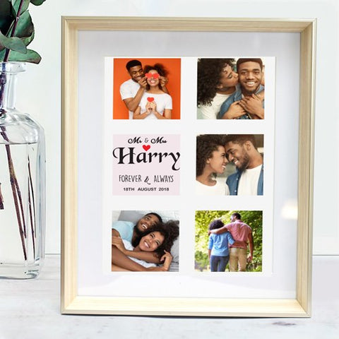 personalised framed print for the new couple