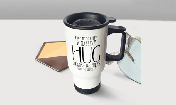 Personalised Travel Mugs with Handle