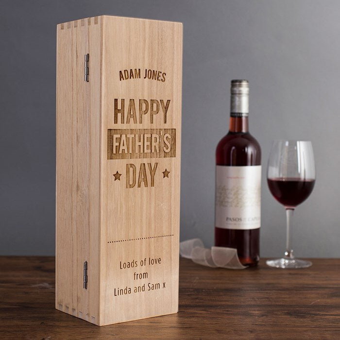 Fathers Day Wooden Wine Box