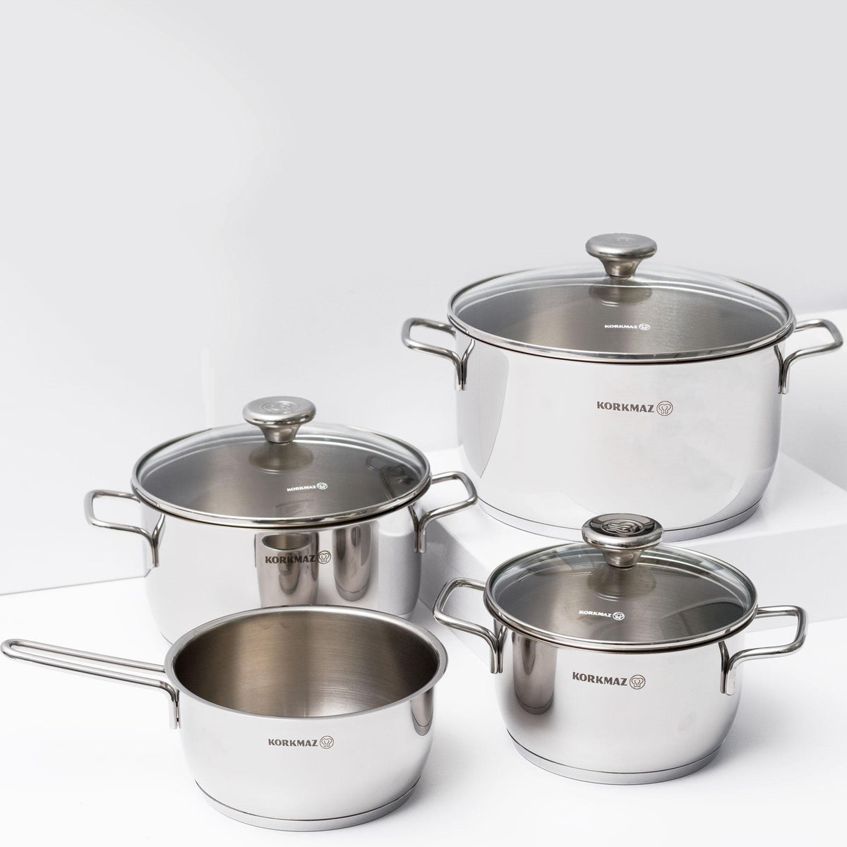 Aroma 7pc Stainless Steel Cookware Set