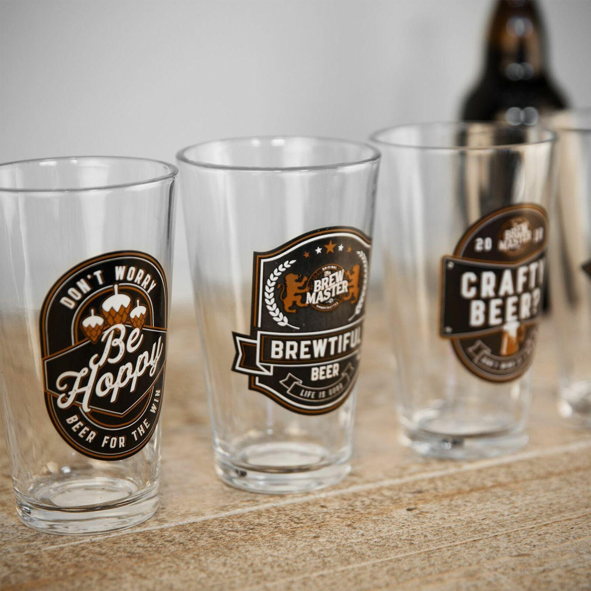 Brewmaster Beer Glasses, Set of 4