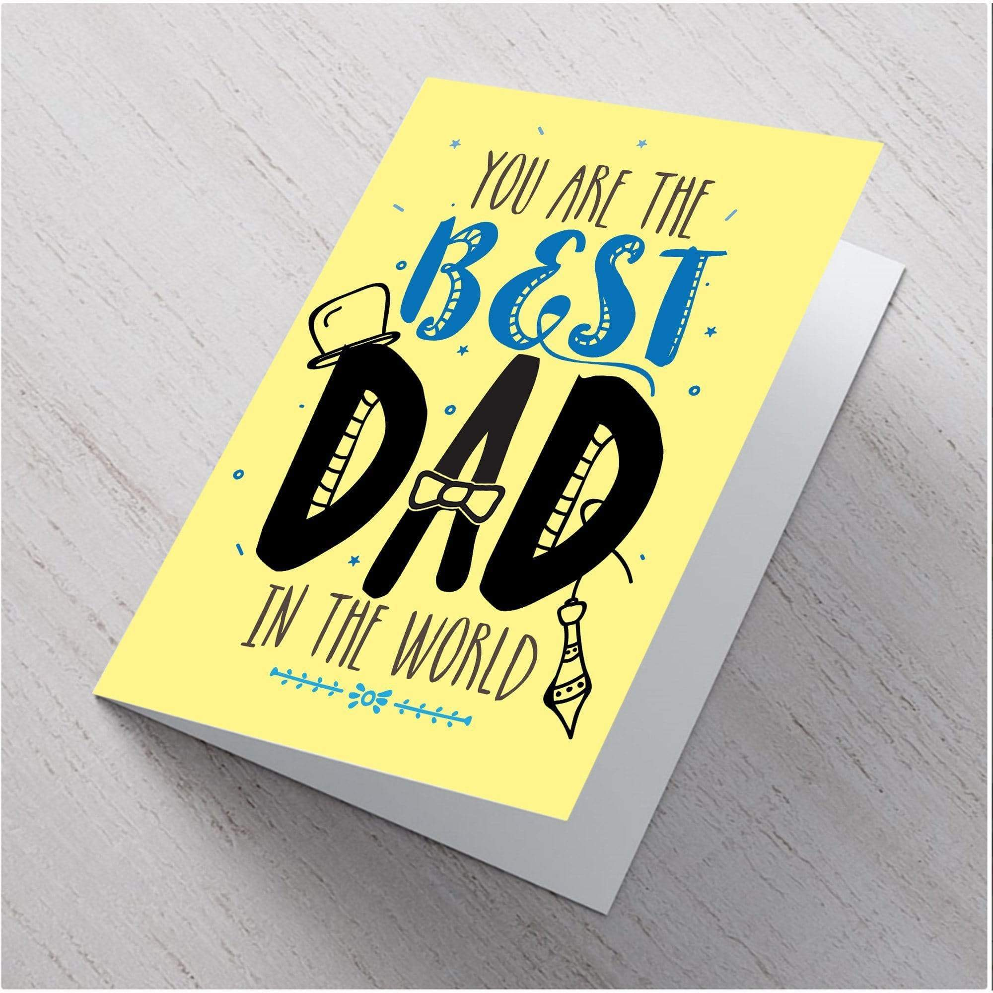 AddOns Best Dad In the World A6 Card