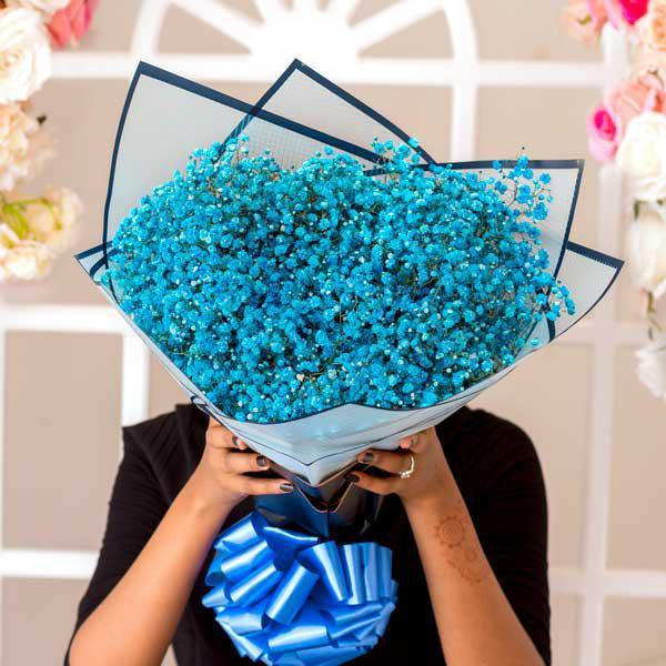 Blue Baby's Breath Bouquet