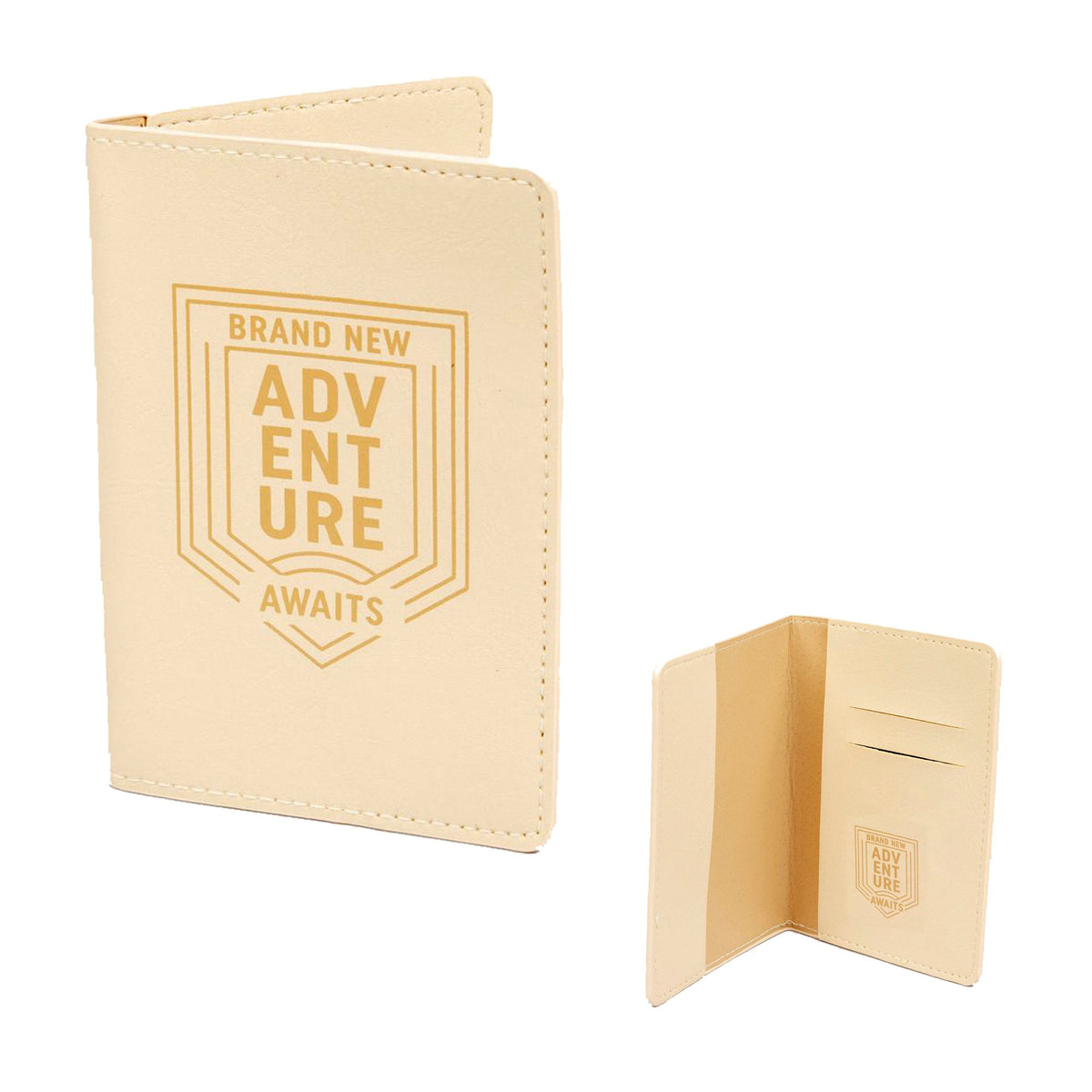 Light Brown leatherette Passport Cover