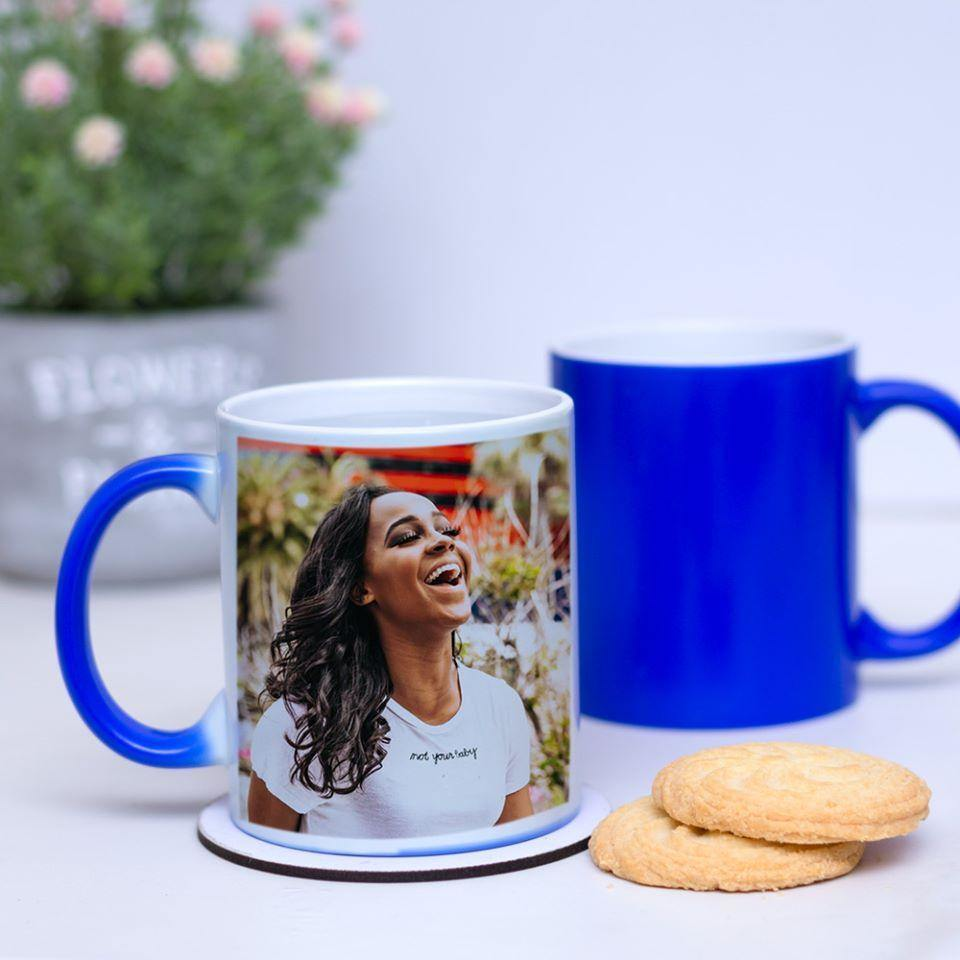Personalised Heat Change Mug - Photo