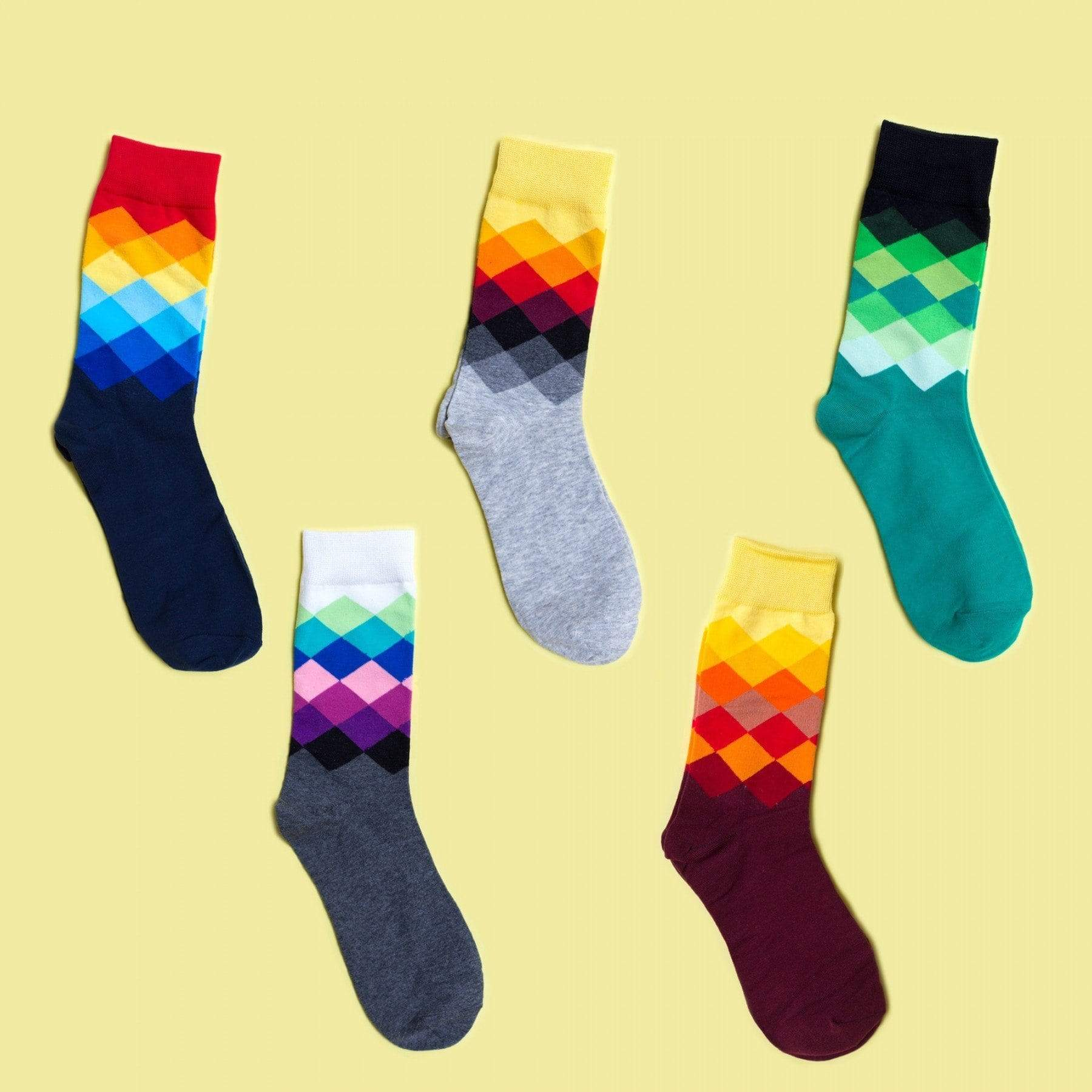 Happy Socks Faded Diamond Socks Set