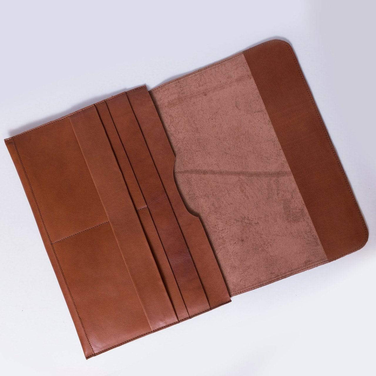 leather Genuine Leather Cognac Hand Crafted Mac Book Sleeve