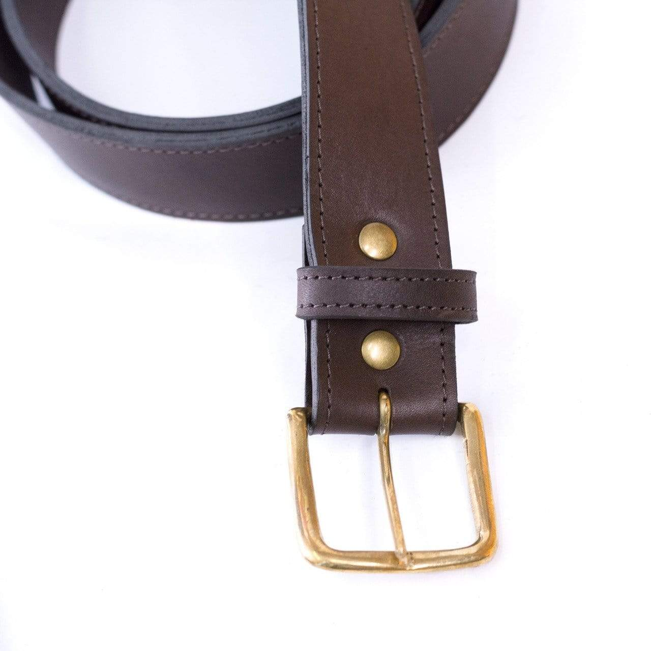 Coffee Genuine Leather Tide Men's Belt