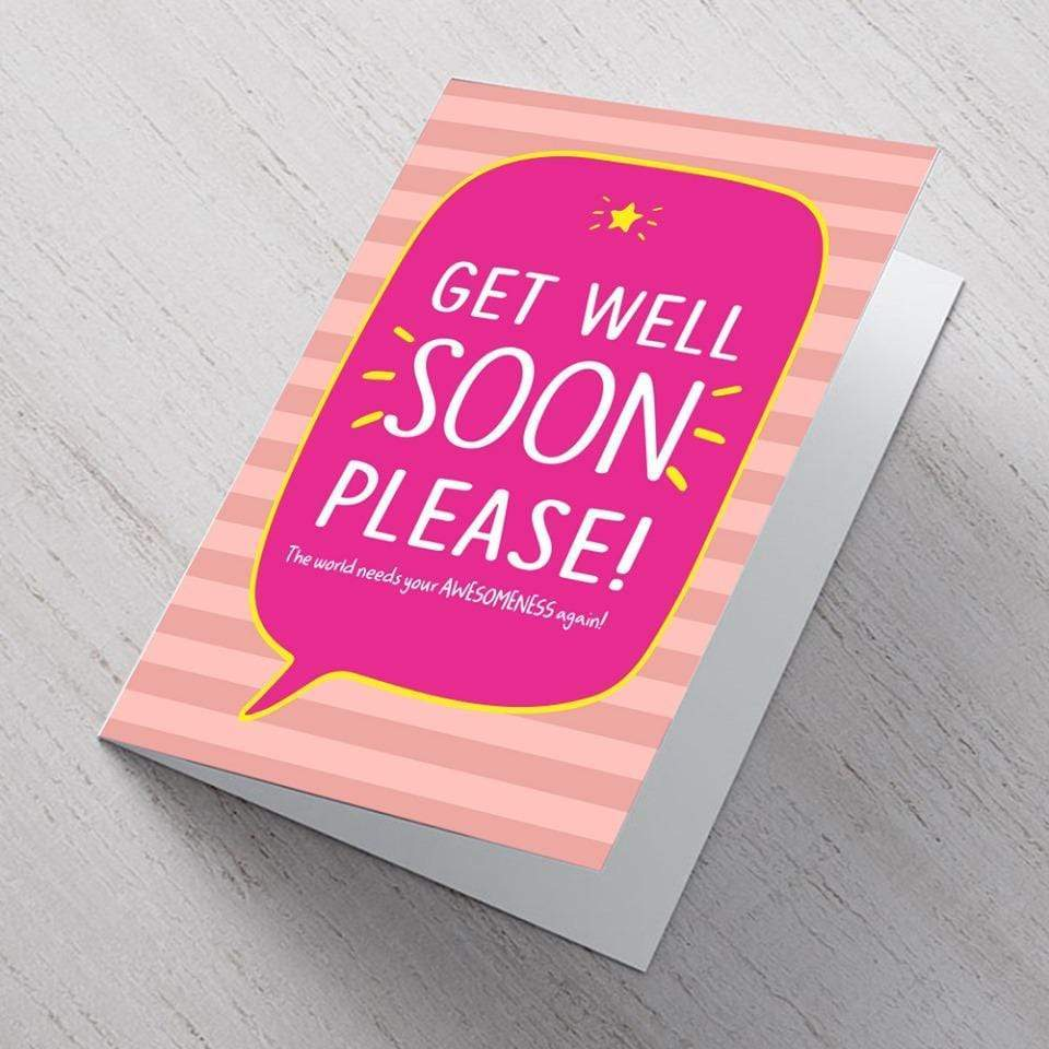 Card Get Well Soon Please Card - A6 Card