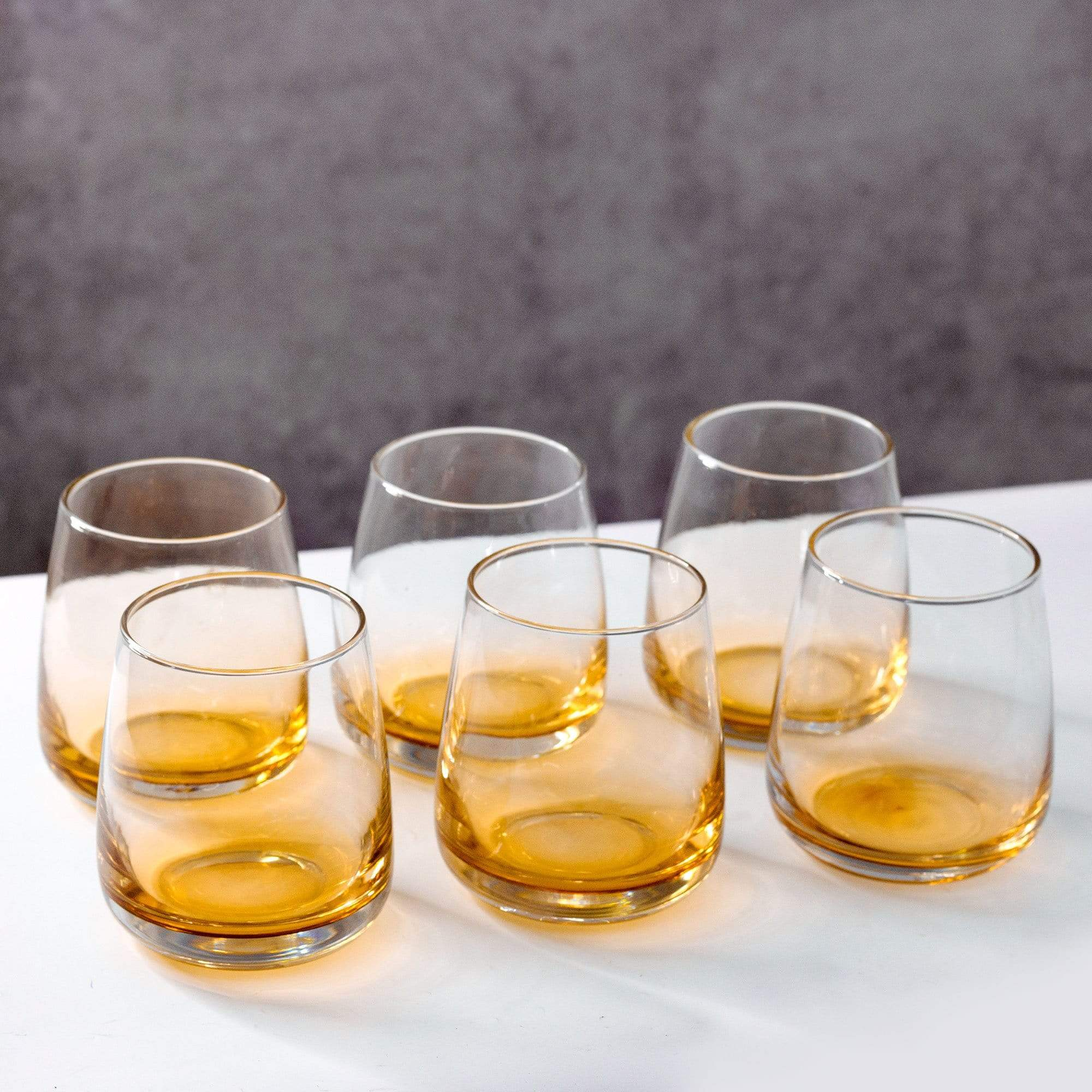 Gold Hue Whisky Glasses (Set of 6)
