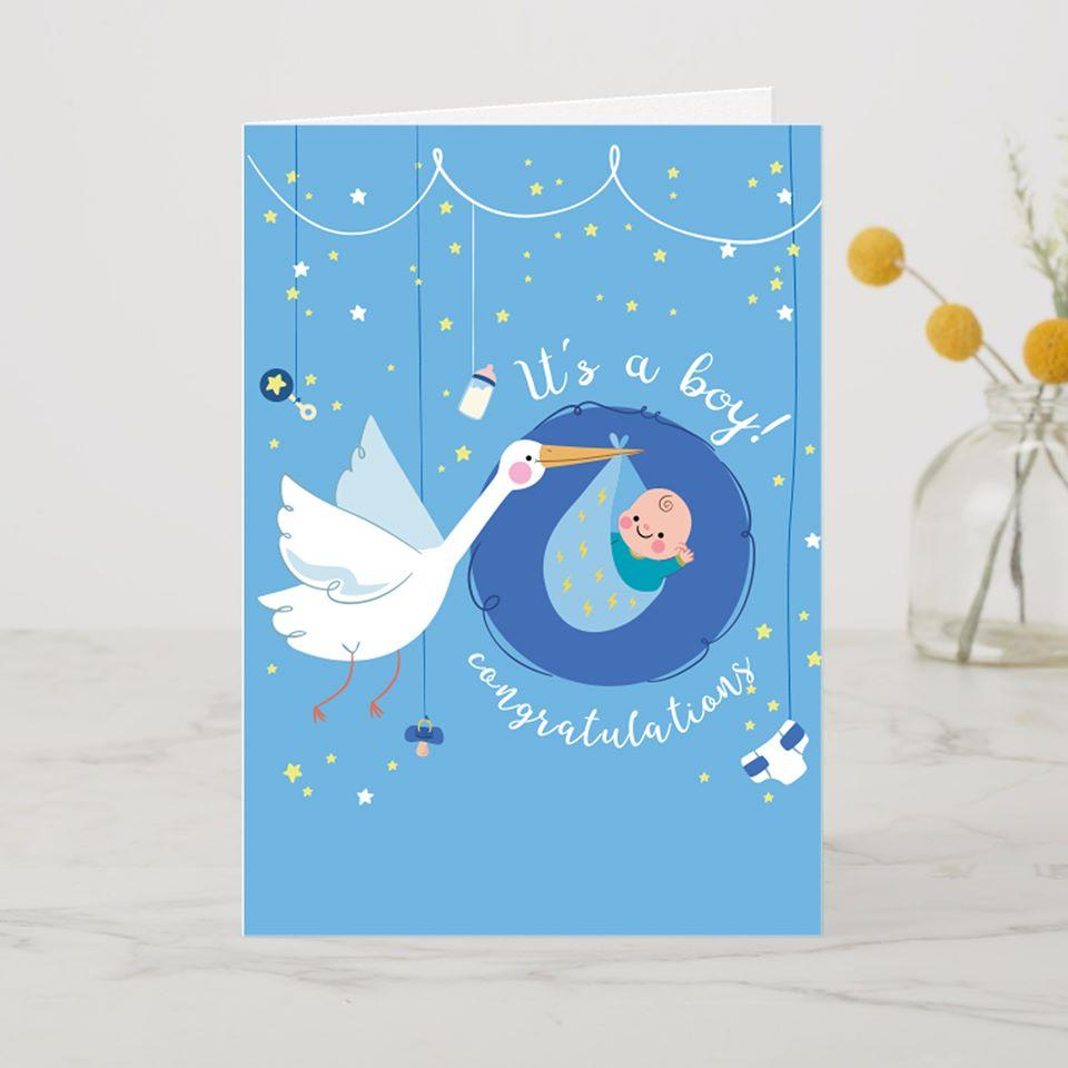 AddOns It's a Boy A6 Card