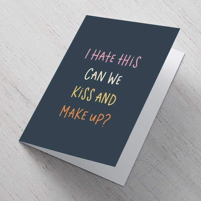 Kiss & Make Up A6 Card.