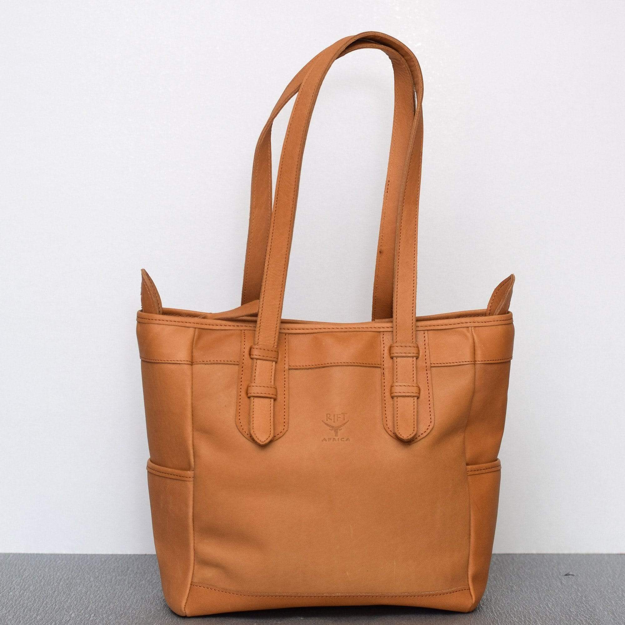 Mandy Tan Leather Tote Bag