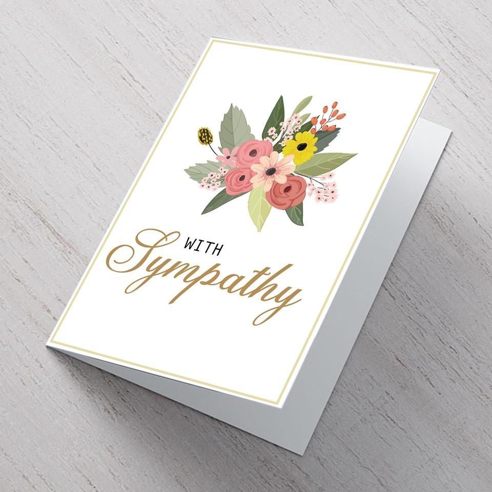 Mixed Flower Sympathy Card - A6