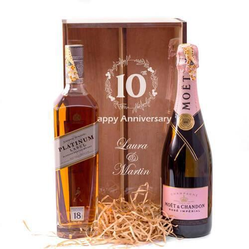 Moet Rose and Platinum Duo Giftbox